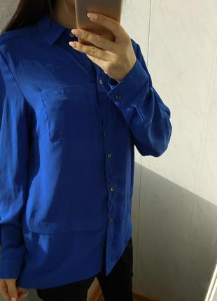 Ярко синяя женская рубашка от george