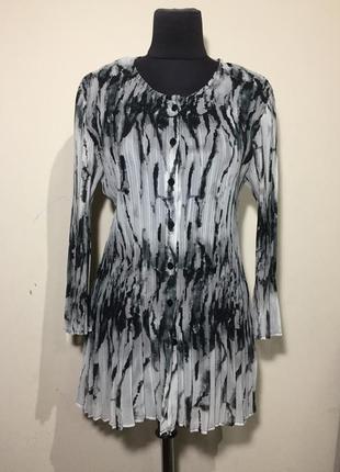 Легкая рубашка блуза плиссе