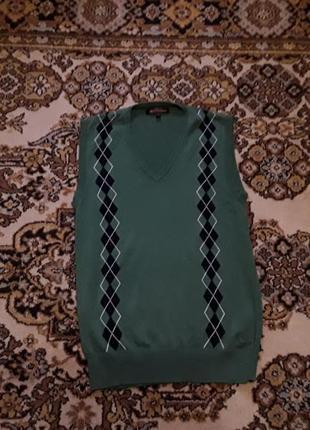 Брендова англійська кофта жилетка ben sherman,розмір s.100% котон.