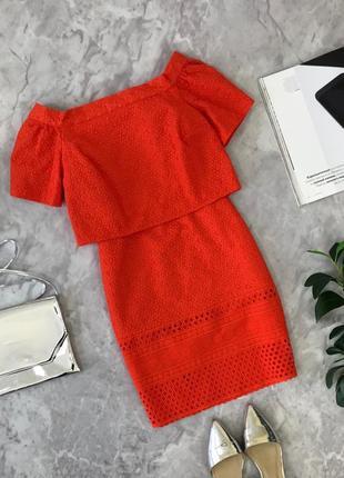 Яркое платье с имитацией топа и юбки  dr1903090 topshop