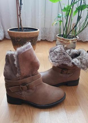 Новые фирменные ботинки на меху 40р./26 см