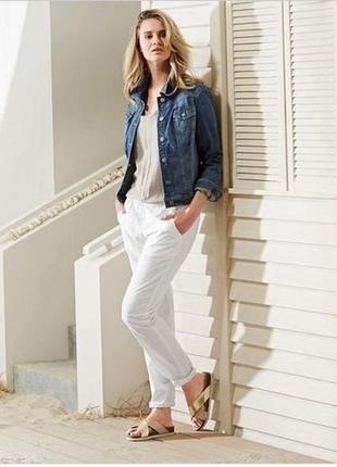 Стильные льняные, белые брюки чино, от тсм tchibo, германия ( евро 44)