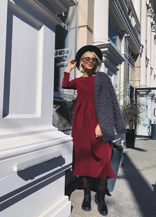 Хитовое платье миди много цветов и размеров бордо