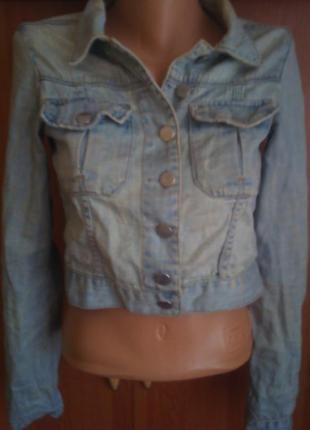 Куртка, пиджак джинсовий  р. s. состояние отличное. topshop  размер производителя-36