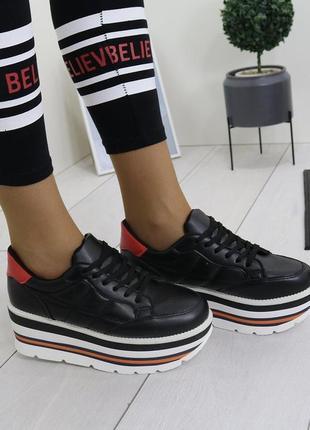 Новые черные кроссовки кеды размер 36,37,38,39,40,41