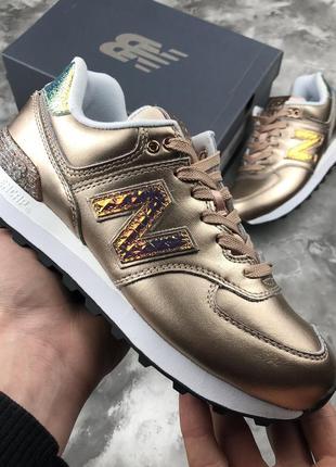 Оригинальные кожаные кроссовки new balance