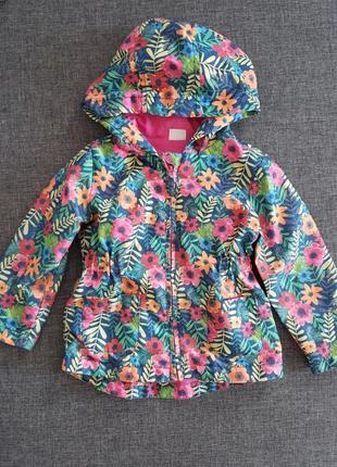 Легкая курточка плащ ветровка пальто 12-18м 86-92см