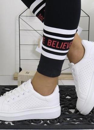 Новые белые кеды кроссовки размер 36,37,38,39,40,41