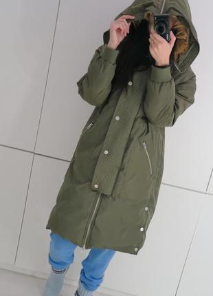 Куртка хаки одеяло кропп cropp town