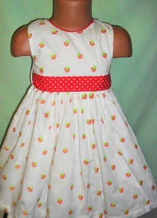Пышное летнее платье на 3-4годика