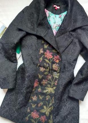 """Мега - стильное жаккардовое пальто с цветами """"joe browns"""""""
