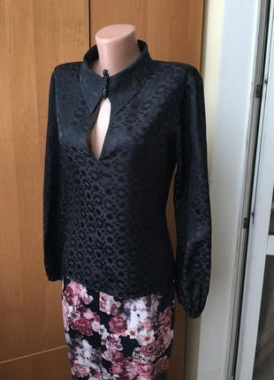 Фирменная шёлковая блуза рубашка натуральный 100% шёлк
