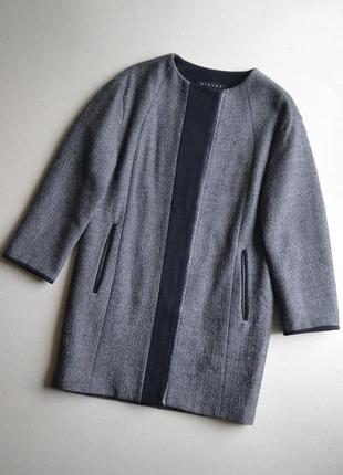 Стильное твидовое пальто р.xs-s в составе шерсть sisley