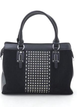 Женская сумка с замшевыми вставками 7326р