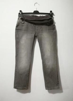 Элитные джинсы для беременных, серо-бежевый цвет, 7/8, noppies, s-m