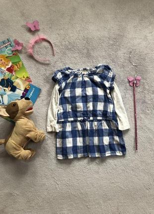 Красивое платье в клеточку для маленькой принцессы