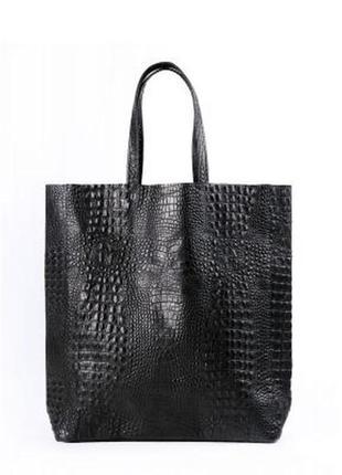 Супер сумка poolparty city croco натуральная кожа