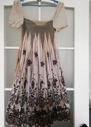 Платье шифон гофре
