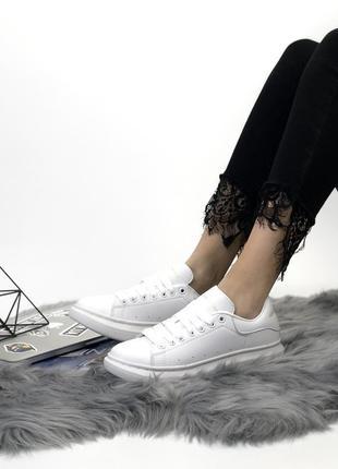 Белые женские кроссовки alexander mcqueen 36 37 38 39 40 размер