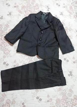 Костюм пиджак брюки  на мальчика 6-12 месяцев