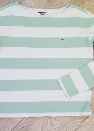 Женский белый джемпер в полоску tommy hilfiger размер s