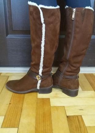 Сапожки,ботинки от tommy hilfiger.натур.замш!!!!оригинал!!!