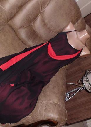 Maria benito платье вечернее черно-красное рр 10 бренд maria benito second hands