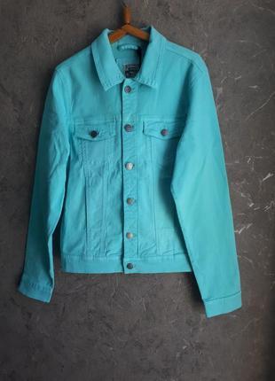 Крутой мятный котонновый пиджак alcott