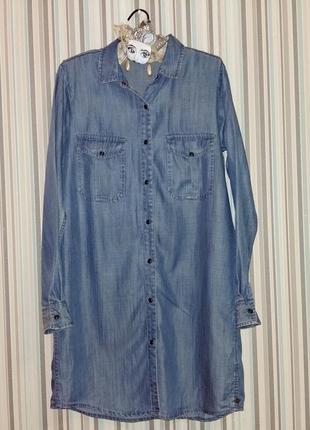 Джинсовая рубашка-платье maison scotch на m-l размер