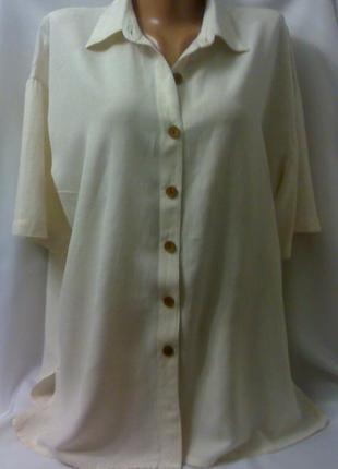 Блуза рубашка большого размера. котон,вискоза