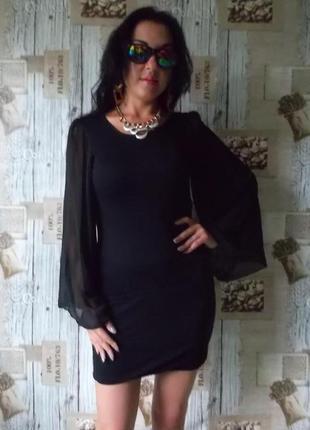 Очень красивое трикоатжное вечернее платье с открытой спиной, размер c-м, сост. отличное