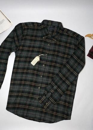 Тёплая мужская байковая рубашка.