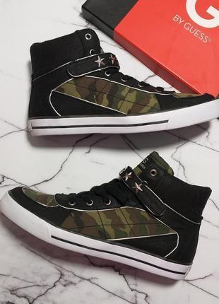 Guess оригинал сникерсы кеды кроссовки хайтопы камуфляж милитари бренд из сша 39-40