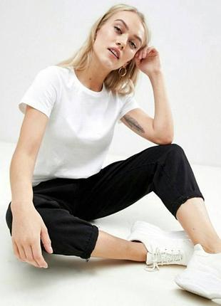 💕 белая футболка с круглым вырезом asos
