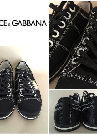 Стильные брендовые кеды от dolce & gabbana (оригинал)