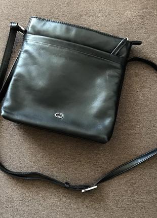 Кожаная сумка gerry webber, 22смх22см