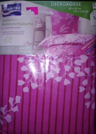 Постельный комплект от немецкого бренда meradiso135х200 натуральный хлопок фланель