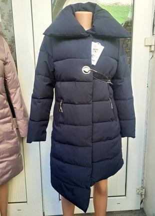 Стильное оригинальное пальто ассиметричное, куртка пуховик распродажа 50%