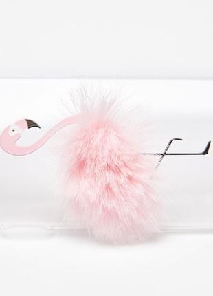 Чехол bershka «фламинго с перьями» для iphone 6 plus/7 plus/8plus