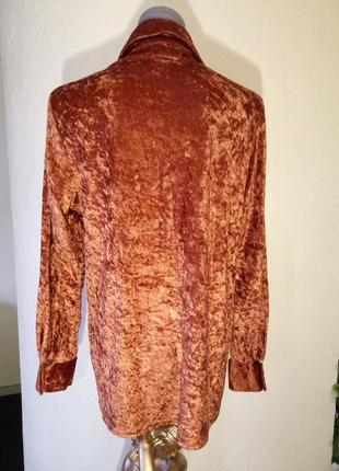 Велюр 《муар》,трендовый цвет сезона,рубашка батал2 фото