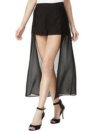 Эффектная юбка-шорты черного цвета (сша) размер xl