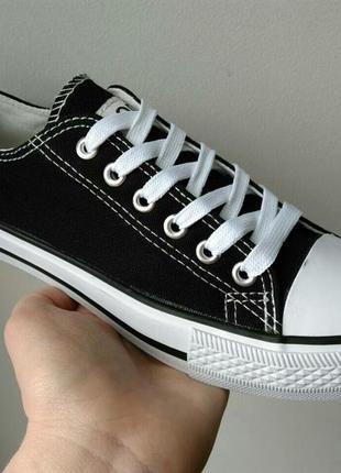 Акция !36-41рр черные кеды кроссовки унисекс женские и подростковые 68b06f86d39