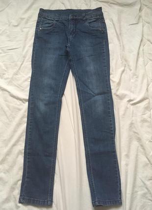 Скини джинсы синие