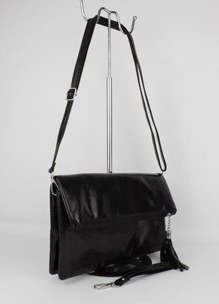 Клатч, сумочка через плечо valensiy 1029-1 черная