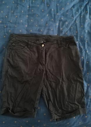 Черные классические короткие шорты blue seven