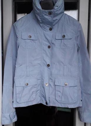 Sos jensen легкая куртка ветровка демисезон весна s m на молнии с капюшоном болоньевая
