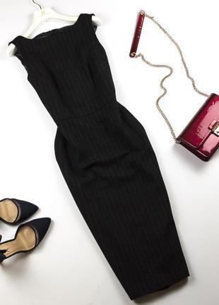 Элегантное шерстяное платье футляр миди по фигуре офисное lewin s