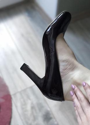 Туфли лаковые бордовые antonio biaggi кожа