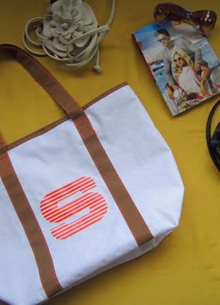 Новая прорезиненная внутри  сумка шоппер,пляжная сумка,сток