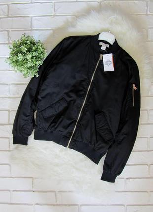 Куртка бомбер утеплённая чёрная h&m